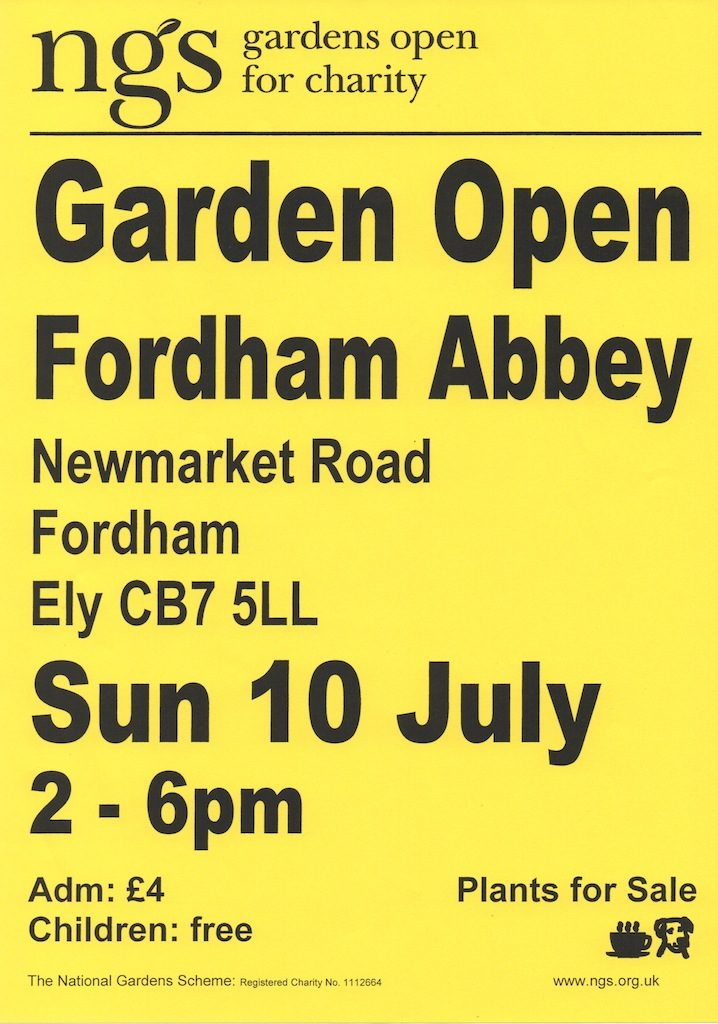 NGS Garden Open at Fordham Abbey