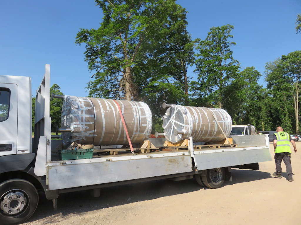 Delivery of Fermentation tanks