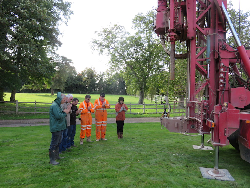 Start drilling a Bore hall
